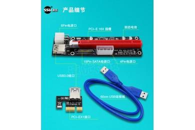 PCI-EX1转X16安装教程